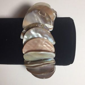 Vintage Jewelry Stone Mother of Pearl Bracelet